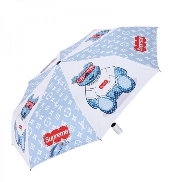 supreme ルイヴィトンコラボ熊柄日傘 折り畳み傘 小型ミニ 傘 レディース 可愛い雨傘 晴雨兼用 ルイヴィトン シュプリーム 遮熱 遮光 傘 UVカット