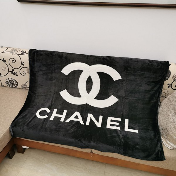 シャネル フランネル毛布 オシャレ ブランド かけ毛布  ブランケット CHANEL 敷毛布 フランネル 暖かい シャネル ひざ掛け 丸洗い可能