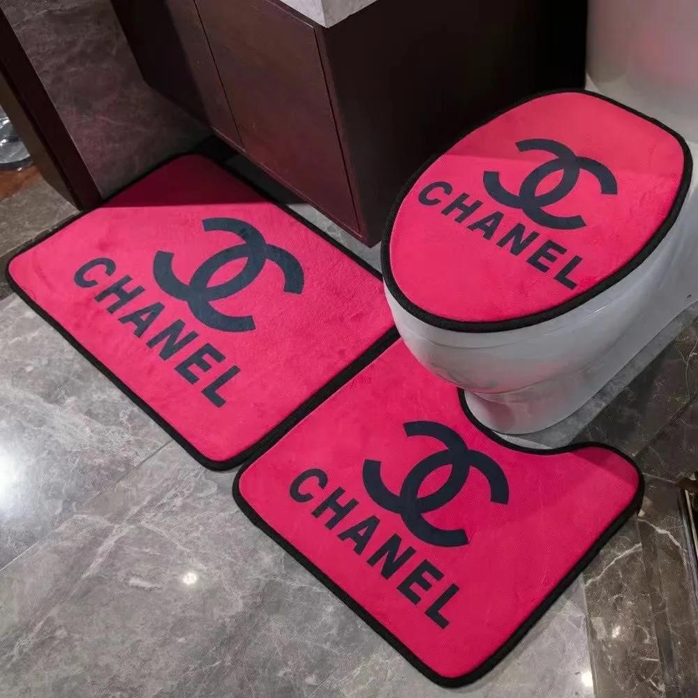 シャネル ルイヴィトン バーバリー vercase 3点セット浴室マット絨毯